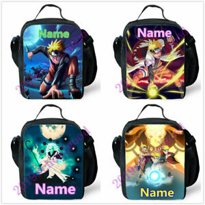 e16569866cf8 Details about Anime Uzumaki Personalised Boys Children School Lunch Bag  Insulated Food Box New
