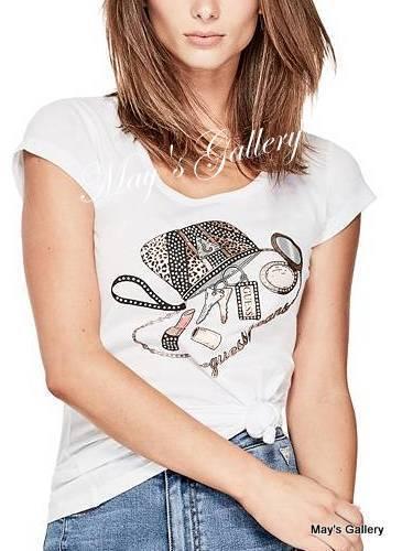 GUESS Jeans Rhinestones Tank T-shirt Tee T shirt Top Blouse NWT XS,S,M,L,XL