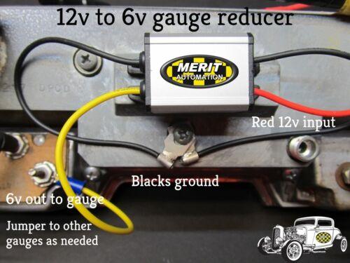 5 amps SERIES A Electronic Voltage Reducer Converts 6 Volt Gauges to 12 Volt
