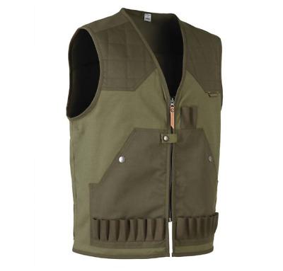 Mens Solognac Hunting Shooting Gilet Green Waistcoat Fire Arm Vest Lightweight
