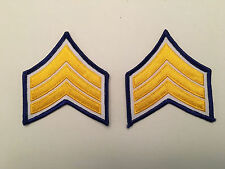 Police Security Chevrons Stripes Patch GOLD ON GREEN 1 Pair CORPORAL CPL