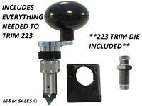 NEW Lee Deluxe Quick Trim Case Trimmer & 223 Trim Die - Everything to trim 223!!