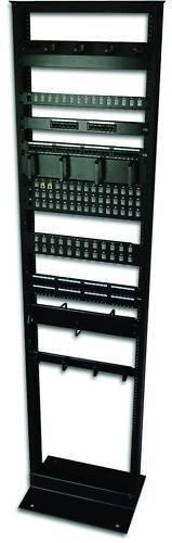 "7ft Open Frame 19"" 45U 2-Post Black IT Network Server Relay Rack 900lbs Capacity"