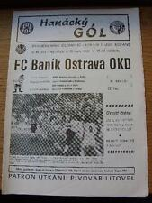 06/10/1991 Sigma Olomouc v Banik Ostrava  . No obvious faults, unless descriptio