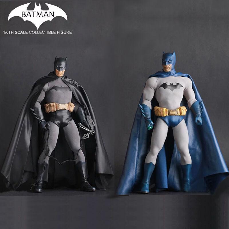 1 6 Scale DC Comics Batman Action Figure Toys Crazy Toys Statue Boxed bluee&Black