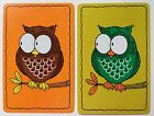 Pair of Vintage Swap/Playing Cards - CUTE OWLS