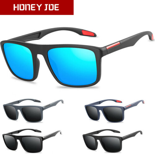 Vintage Men Square Polarized Driving Sunglasses Fishing Eyewear Outdoor UV400