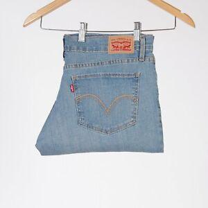 Levi-039-s-524-Skinny-Ripped-Blue-hellblau-Damen-jeans-31-32-W31-L32