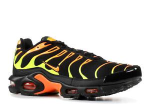 7d24855c Nike Air Max Plus TN Black Volt Total Orange Sizes 8-13 852630-033 ...