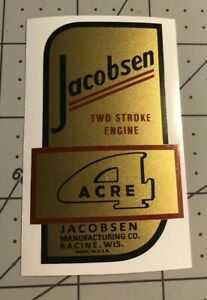 Jacobsen-4-Acre-Two-Stroke-Engine-Mower-039-Decal-039-only-1934-1937-New-Art-2-For-1