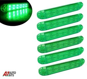 Lot de 2 feux de position avant LED orange fluo pour scania 24 V