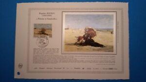 FRANCE DOCUMENT ARTISTIQUE YVERT 2474 BOUDIN PEINTRE HONFLEUR 1987  L543