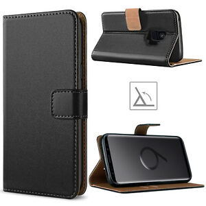 For-Samsung-Galaxy-S10-S20-S9-S8-S7-Plus-PU-Leather-Flip-Case-Wallet-Cover-BLACK