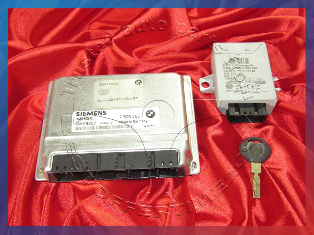 BMW E36 E46 E39 E38 Z3 3 5 7'ies 2 3i 2 8i M52 Engine ECU SET DME MS42 EWS  & Key