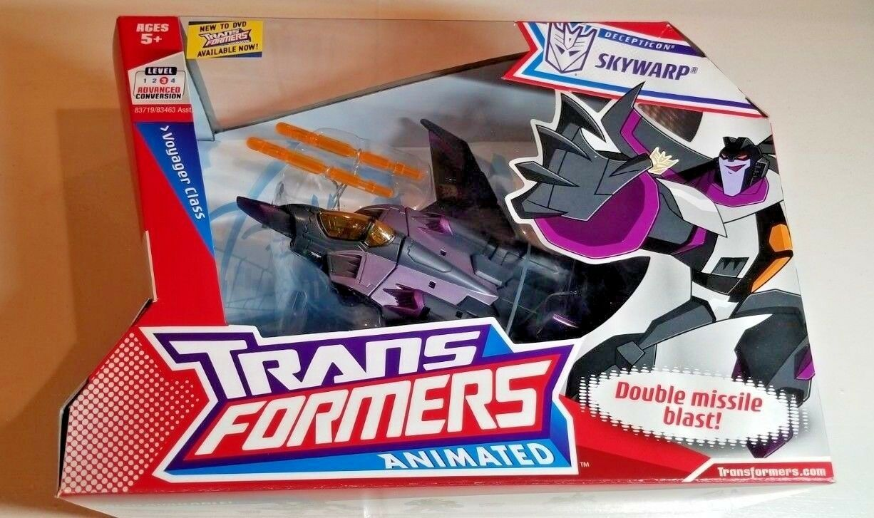 NEW SEALED TRANSFORMERS ANIMATED DECEPTICON SKYWARP VOYAGER CLASS 2008