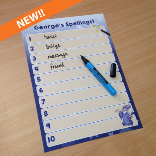 agregue cualquier nombre Personalizado Niños limpie la ortografía hoja y chicos//chicas de bolígrafo