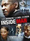 Inside Man 0025192884726 With Denzel Washington DVD Region 1