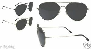 Aviator-Smoked-Sunglasses-GOLD-SILVER-or-BLACK-Cop