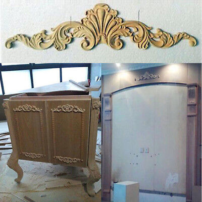 Unlackierte Frame Decal Home Möbel Holz geschnitzte Onlay Applique Ecke W3Y7