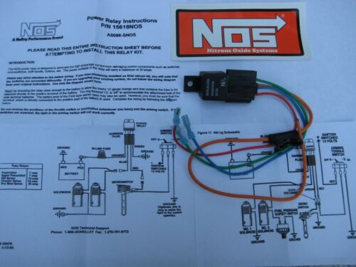 LQQK SALE-NOS//NITROUS//ZEX//EDELBROCK//HOLLEY// NOS POWER RELAY W//HARNESS #15618 NEW