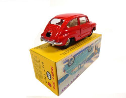 DINKY TOYS DeAgostini MODELLAUTO CAR DIECAST 520 Fiat 600 D rot