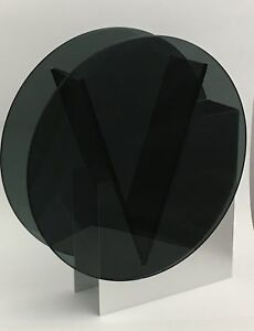 Contemporary-Round-Black-Glass-Vase-with-Aluminum-Stand
