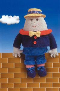 Free Humpty Dumpty Knitting Pattern : Knitting Pattern- DK childs Humpty Dumpty Pattern- Lovely vintage toy pattern...