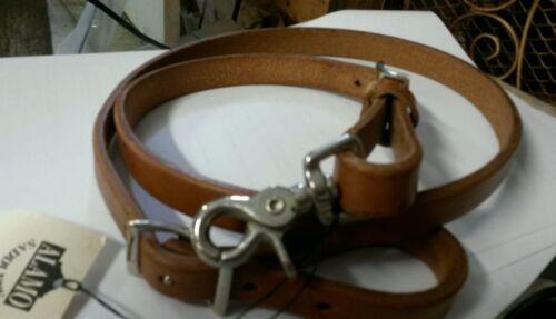 "3//4/"" X 40 leather Latigo brown ALAMO Saddlery Tie Down Strap"