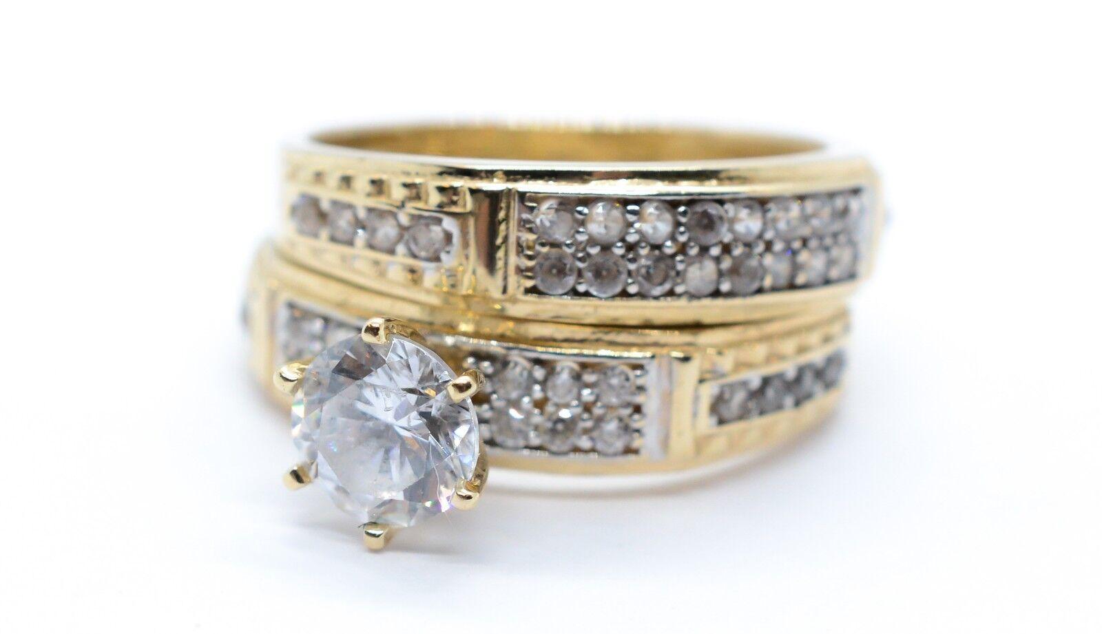 (MA5) Ladies 14k Yellow gold Stone Ring 6.3 Grams Size 8 1 4