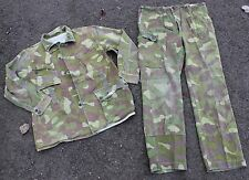 "(4) FINLAND ARMY M62 UNIFORM REVERSIBLE WOODLAND - SNOW CAMO 42"" CHEST"