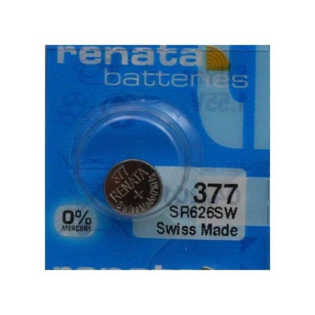 [Ref:X703243] RENATA Blister de 1 Pile bouton oxyde argent X377 SR626SW