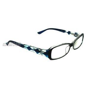 Reading Glasses Blue Frames : Blue Plastic Frame Full-Rim Reading Glasses Anti Eye ...