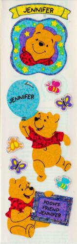 Sandylion Winnie the Pooh Name Stickers *Letter J* SUPER RARE RETIRED DESIGNS