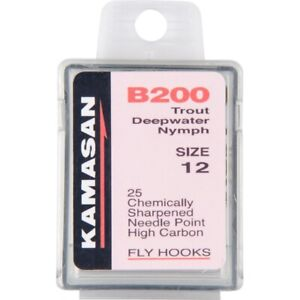 KAMASAN B170 FLY TYING HOOKS TROUT MEDIUM TRADITIONAL
