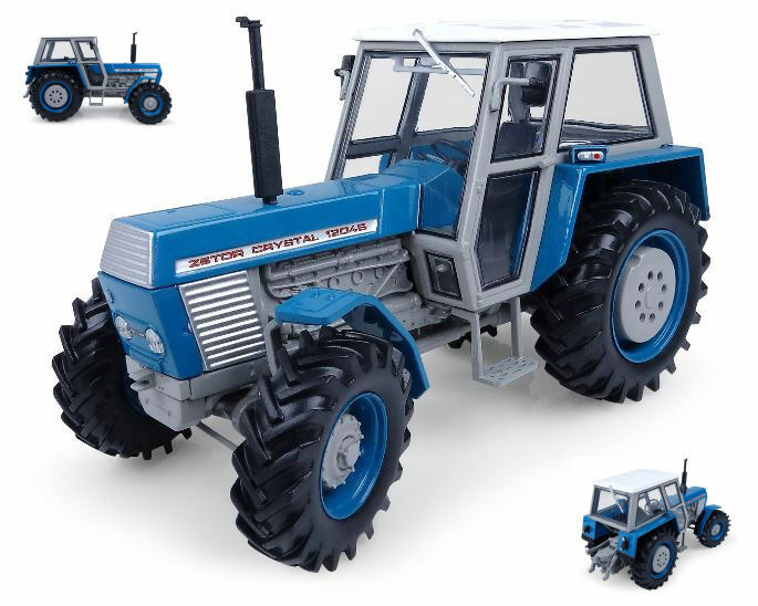 Zetor Crystal 12045 4WD blu Edition Tractor 1 32 Model 4985 UNIVERSAL HOBBIES