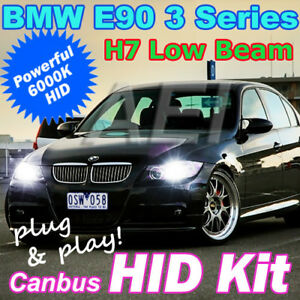 bmw e90 e91 3 series low beam h7 6000k 35w canbus xenon hid kit 320d 320i 325i ebay. Black Bedroom Furniture Sets. Home Design Ideas