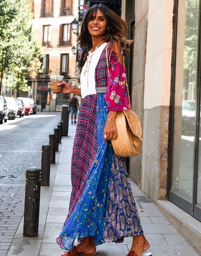 ZARA STUDIO PLISSEE MAXI KLEID BlauMEN LONG FLORAL PRINTED DRESS PLEATED Größe M