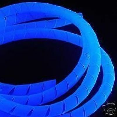 UV Blue Spiral Wrap - Keep Your PC Cables Tidy