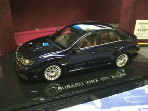 SUBARU-Impreza-Limousine-WRX-Sti-A-Line-darkb-blue-blau-Ebbro-1-43