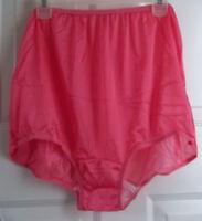 Lot 4 Nylon Briefs Panties 1-green 1-purple 1-pink 1-white Cotton Crotch 14