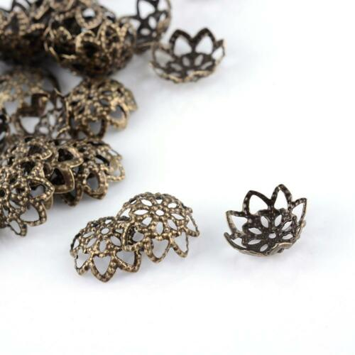 100 trozo de tapas de perlas tapas perlas bronzefarbend filigrana 1181