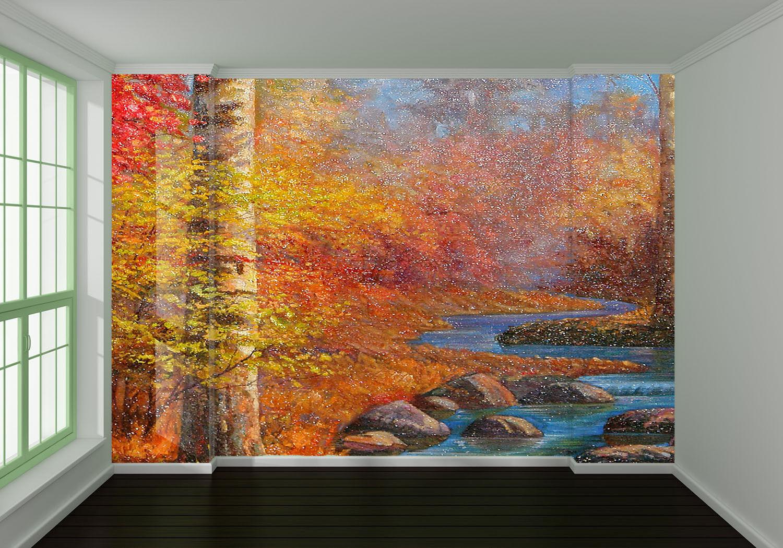 3D Stein Bach Bach Bach Bäum Ölgemälde 8 Tapete Wandgemälde Tapete Tapeten Bild Familie DE | Angenehmes Aussehen  |  3dca9f