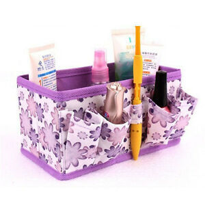 Makeup-Cosmetic-Storage-Box-Bag-Bright-Organiser-Foldable-Stationary-Container-V