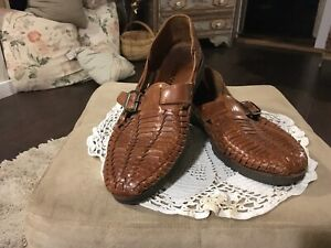 SunSteps Mens 12M Hand Woven Leather