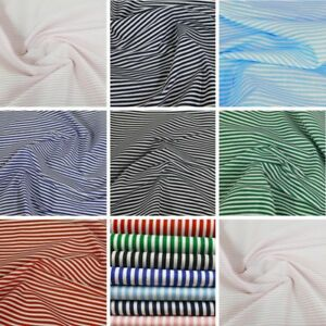 Polycotton-Fabric-3mm-Candy-Stripes-Craft-Stripe-Dress-Striped-Material