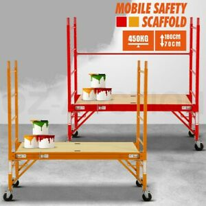 450KG RD/YL Mobile Safety Scaffold Scaffolding High Work Platform Ladder Tool