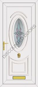 Jefferson One Cambridge Panel Glazed UPVC Front Door, Frame & Letterbox