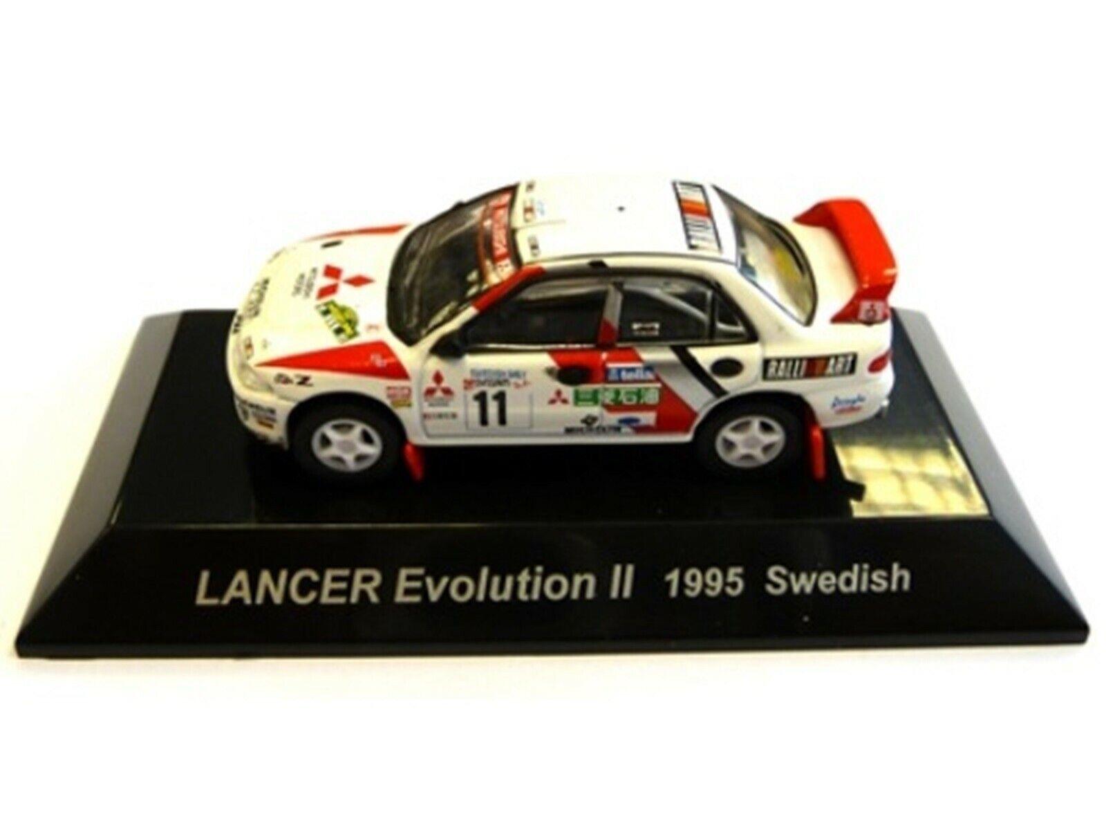 WOW estremamente raro MITSUBISHI LANCER Evo2 Svezia 1995 WRC 1 64 CM 'S KYOSHO