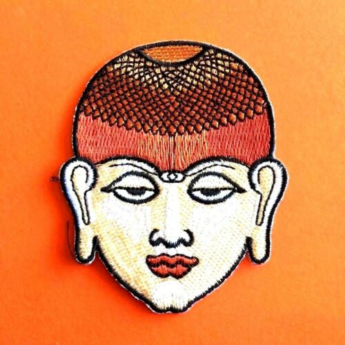Youth Monk Face Iron on Patch Sew Embroidery Tattoo Applique Awesome Decor