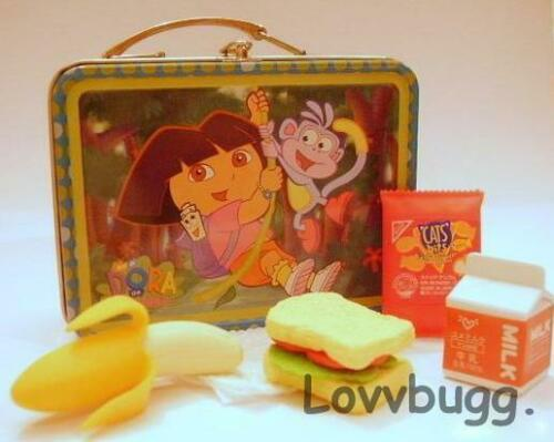 Tinkerbell Lunchbox w Lunch for 18 inch American Girl Doll Food School Supplies